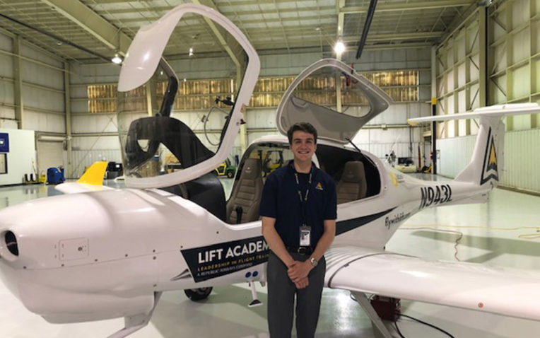 PLTW Alumnus Strives to Earn Wings Through Innovative Aviation Program