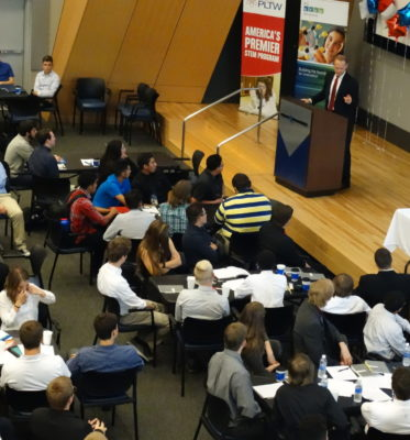 Students Kick-off PLTW Engineering Design & Development Capstone Projects with Business Mentors