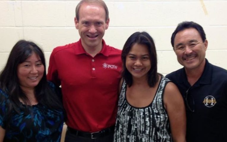 Across Land and Sea, Bertram visits PLTW Teachers and Partners in Hawaii