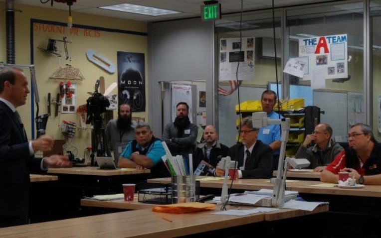 Bertram Visits Schools, Speaks of Urgency in Alaska