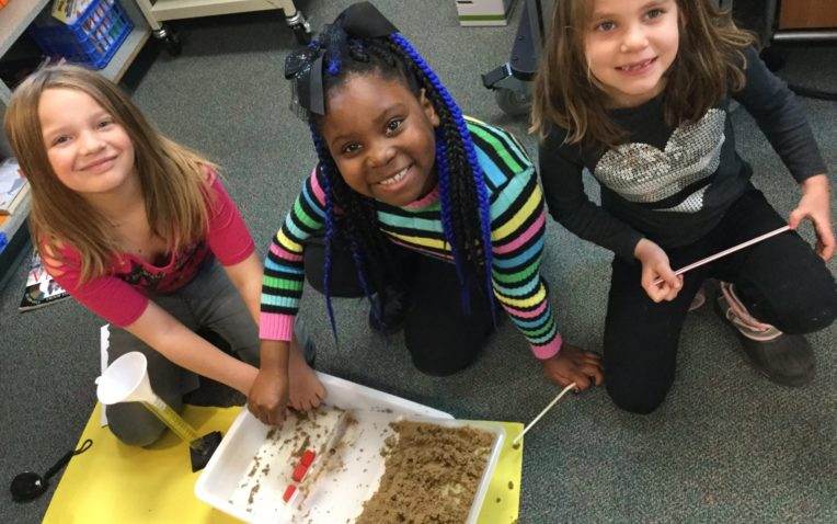 Invested and Engaged Second Grade Engineers
