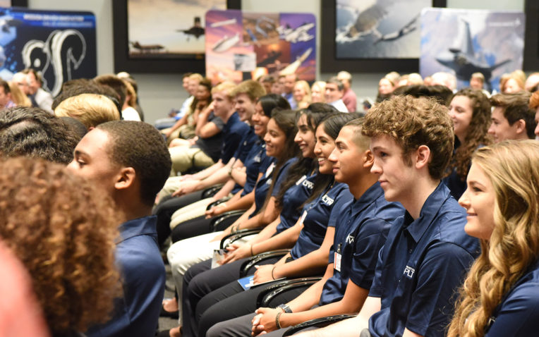 PLTW Students, Alumni Accept Internship Roles and Job Offers at Lockheed Martin Signing Day