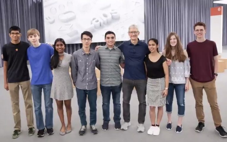 Apple Features PLTW Biomedical Science Student