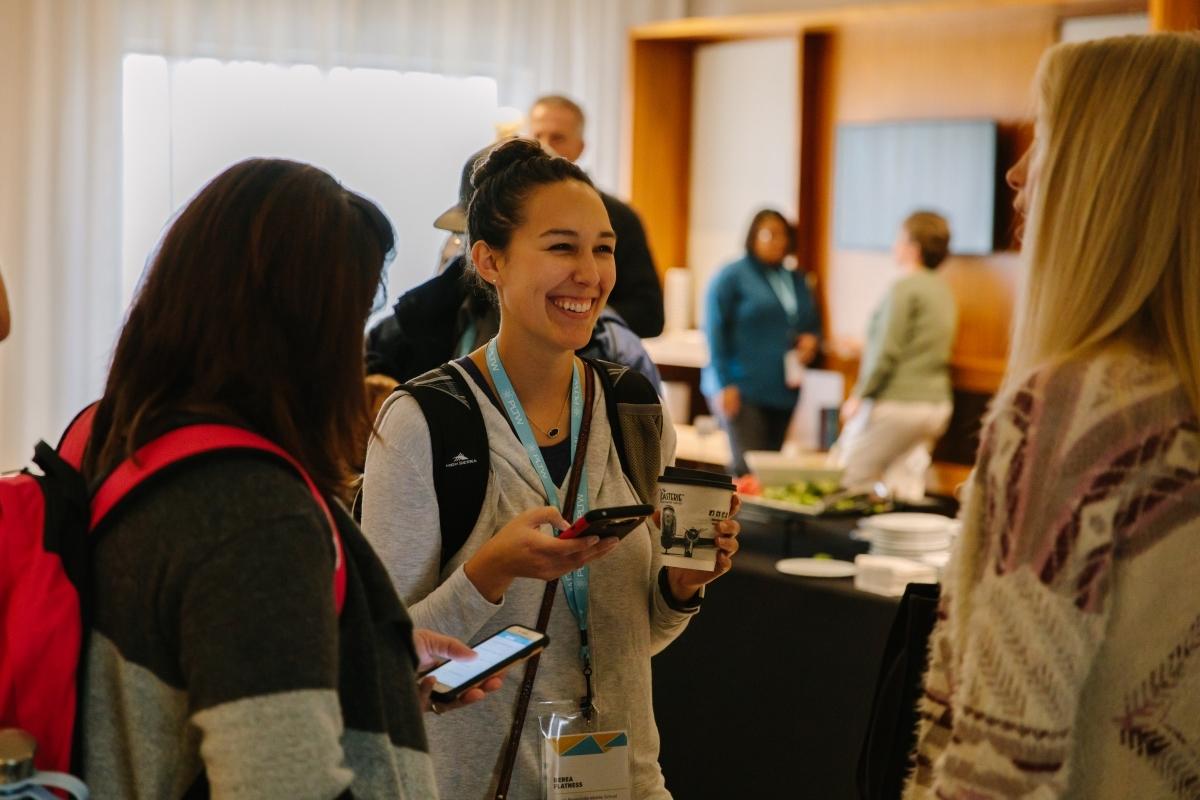 PLTW Summit Kansas City attendees talking